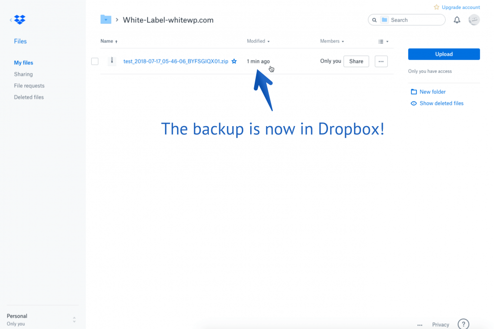 Back up WordPress to Dropbox Every Day for Free