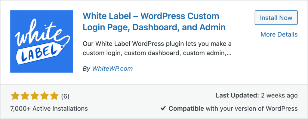 White Label Install Now Screenshot
